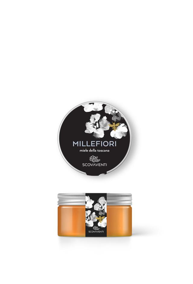 Barattolo di miele millefiori 120g