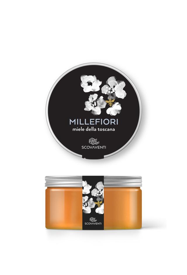 Barattolo di miele millefiori 400g