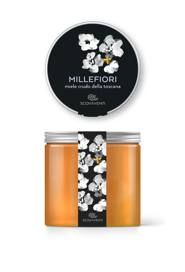 Barattolo di miele millefiori 900g