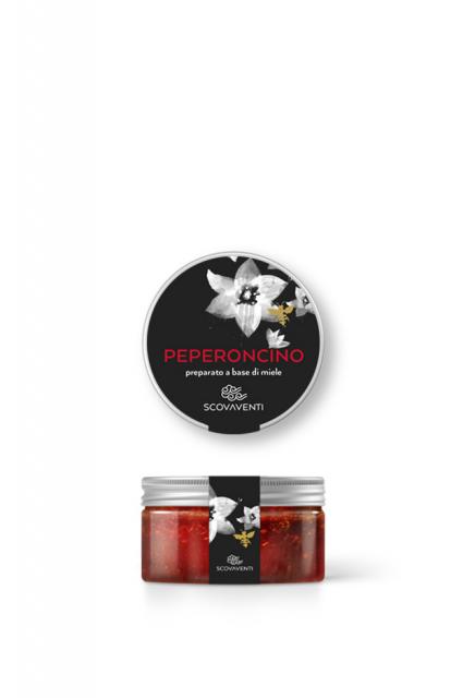 Barattolo di preparato di miele al peperoncino 120g