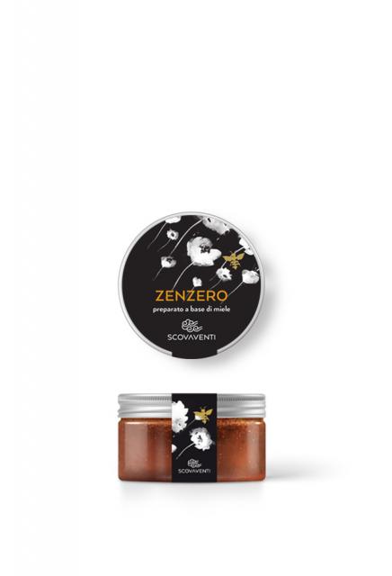 Barattolo di preparato di miele allo zenzero 120g